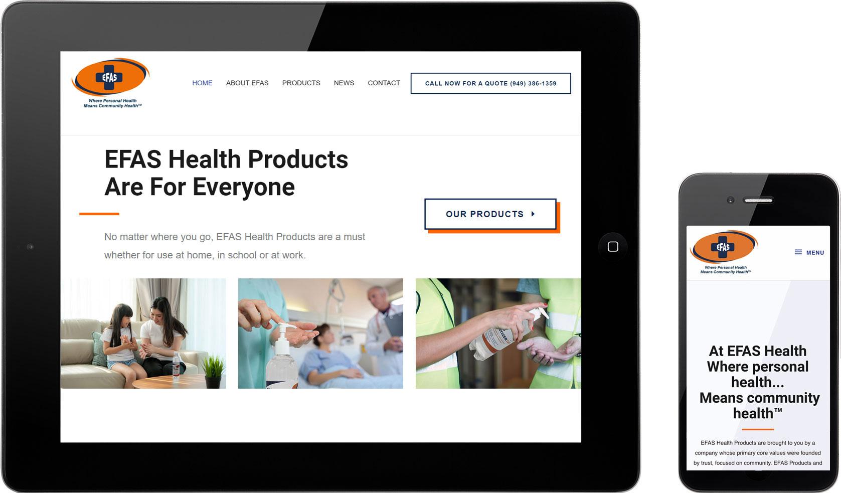 Efas-Health-website